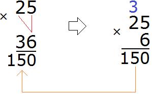25 умножить на 35 шаг 2
