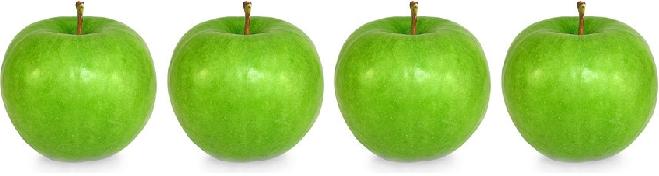 четыре яблока