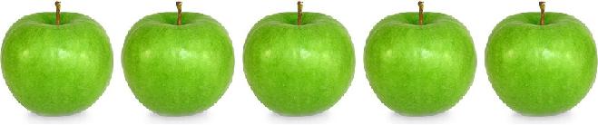 пять яблок