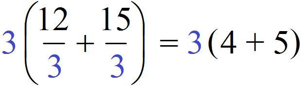 вынесение общего множители 12 плюс 15 окончательный ответ