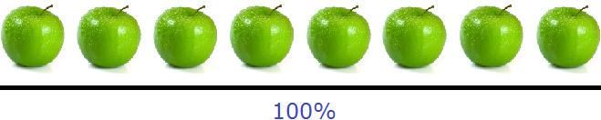 восемь яблок 100 процентов