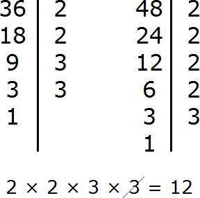 нок для 36 и 48 для второго способа нахождения НОК step 1
