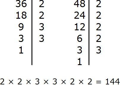 нок для 36 и 48 для второго способа нахождения НОК step 4
