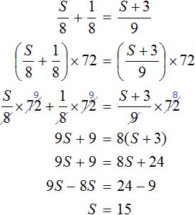 s na 8 plus 1 na 8 ravno s plus 3 na 9 решение