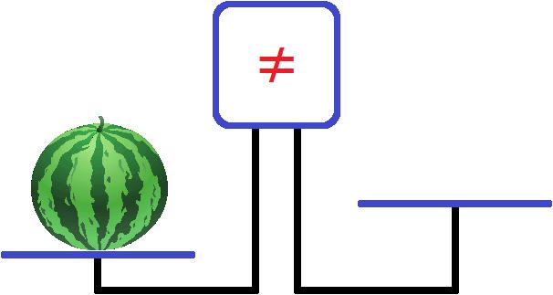 весы арбуз на левой чаше