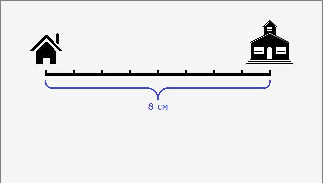 дом и школа расстояние между которыми как бы 8 см