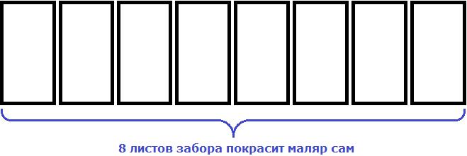 забор из восьми листов рисунок 2
