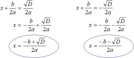 квадратное уравнение рисунок 87