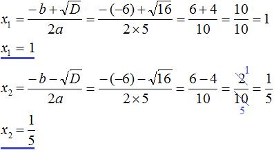 квадратное уравнение рисунок 99