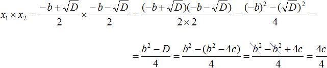 Теорема Виета рисунок 20