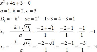 Теорема Виета рисунок 58